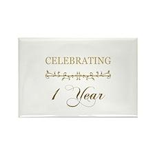 Celebrating 1 Year Rectangle Magnet
