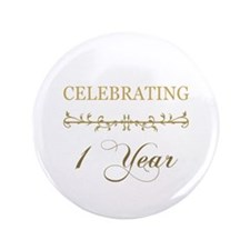 "Celebrating 1 Year 3.5"" Button (100 pack)"
