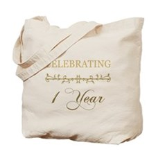 Celebrating 1 Year Tote Bag