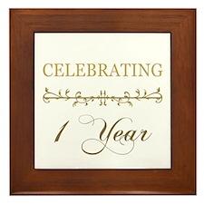 Celebrating 1 Year Framed Tile