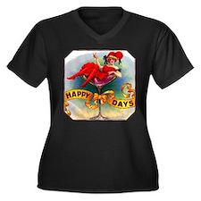 Happy Days Cigar Label Women's Plus Size V-Neck Da