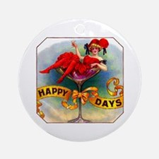 Happy Days Cigar Label Ornament (Round)