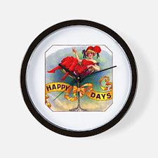 Happy Days Cigar Label Wall Clock