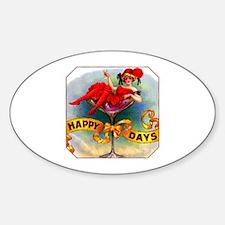 Happy Days Cigar Label Decal