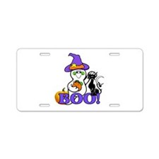 Halloween Ghost Aluminum License Plate