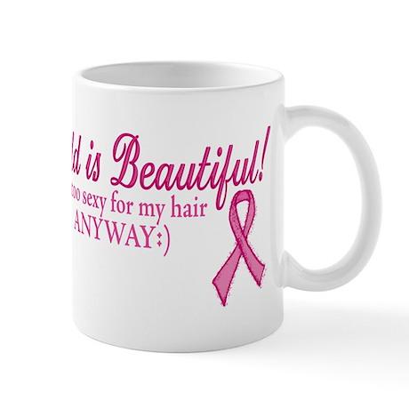 Bald is Beautiful Cancer Sucks Mug