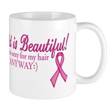 Bald is Beautiful Cancer Sucks Mug