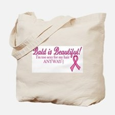 Bald is Beautiful Cancer Sucks Tote Bag