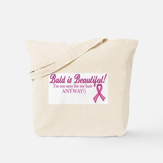 Bald is Beautiful Cancer Sucks Tote Bag
