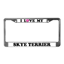 I Love My Skye Terrier License Plate Frame