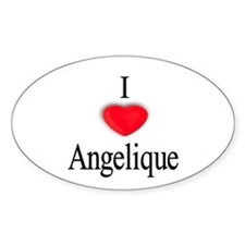 Angelique Oval Decal