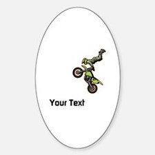 Motorbike Jump Sticker (Oval)