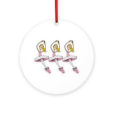Ballerinas Ornament (Round)