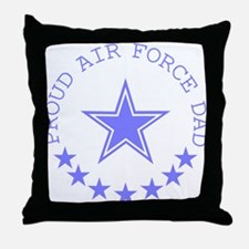 Proud Air Force Dad Throw Pillow