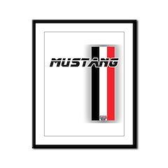 Mustang BWR Framed Panel Print