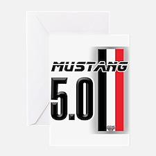 Mustang 5.0 BWR Greeting Card