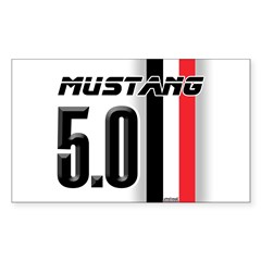 Mustang 5.0 BWR Sticker (Rectangle 50 pk)