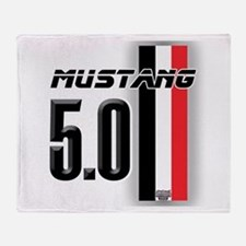 Mustang 5.0 BWR Throw Blanket