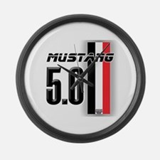 Mustang 5.0 BWR Large Wall Clock