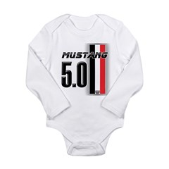 Mustang 5.0 BWR Long Sleeve Infant Bodysuit