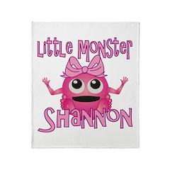 Little Monster Shannon Throw Blanket