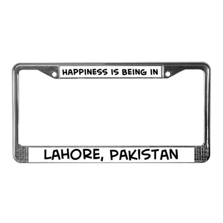 Happiness is Lahore License Plate Frame
