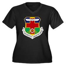 Unique 1st Women's Plus Size V-Neck Dark T-Shirt
