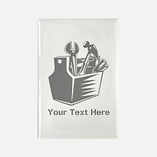 Tool box. Custom Text. Rectangle Magnet