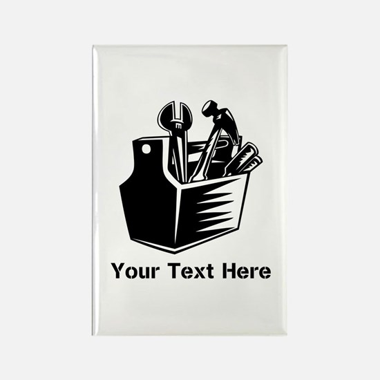 Tools with Text in Black. Rectangle Magnet