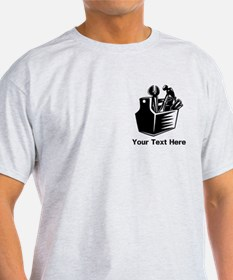 Tools with Text in Black. T-Shirt