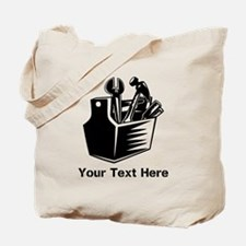 Tools with Text in Black. Tote Bag