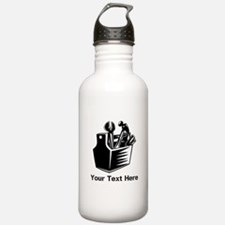 Tools with Text in Black. Water Bottle