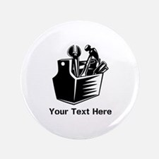 "Tools with Text in Black. 3.5"" Button"