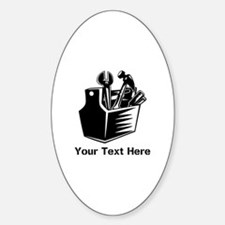 Tools with Text in Black. Sticker (Oval)
