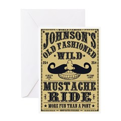WILD MUSTACHE RIDE Greeting Card