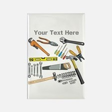 Tools with Gray Text. Rectangle Magnet