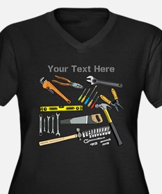 Tools with Gray Text. Women's Plus Size V-Neck Dar