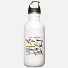 Tools with Gray Text. Water Bottle