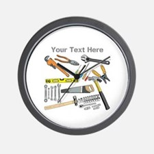 Tools with Gray Text. Wall Clock