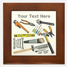 Tools with Gray Text. Framed Tile