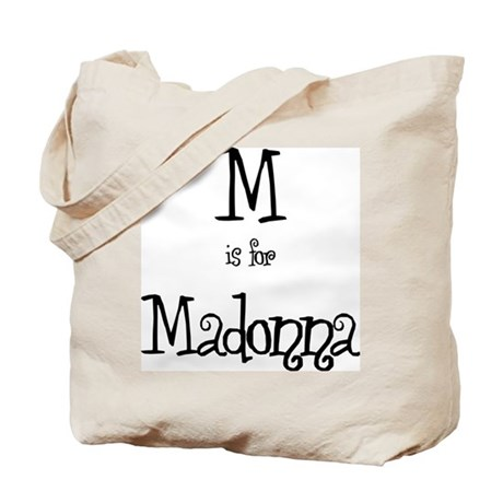 M Is For Madonna Tote Bag