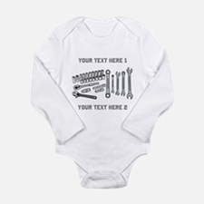 Wrenches with Text. Long Sleeve Infant Bodysuit