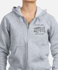 Wrenches with Text. Zip Hoodie