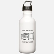 Wrenches with Text. Water Bottle