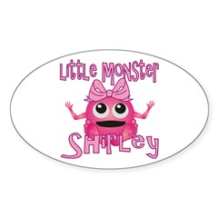 Little Monster Shirley Sticker (Oval)