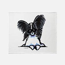 Masked Papillon Throw Blanket