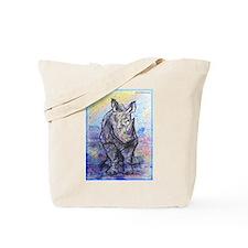 rhino, wildlife, art, Tote Bag