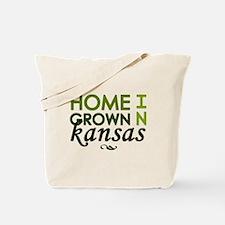 'Home Grown In Kansas' Tote Bag