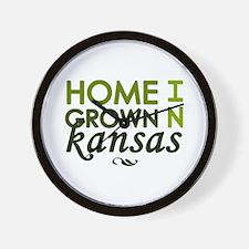 'Home Grown In Kansas' Wall Clock