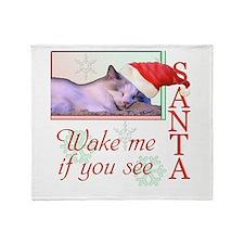 Wake Me If You See Santa Throw Blanket
